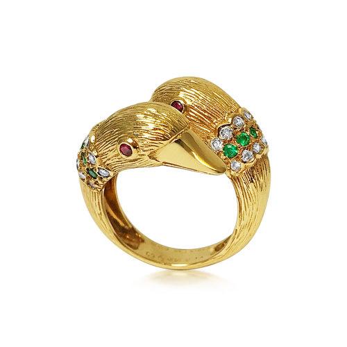 Vintage Van Cleef Arpels duck ring