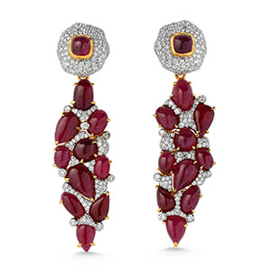 Victor Velyan ruby earrings