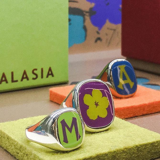 Alasia enamel rings