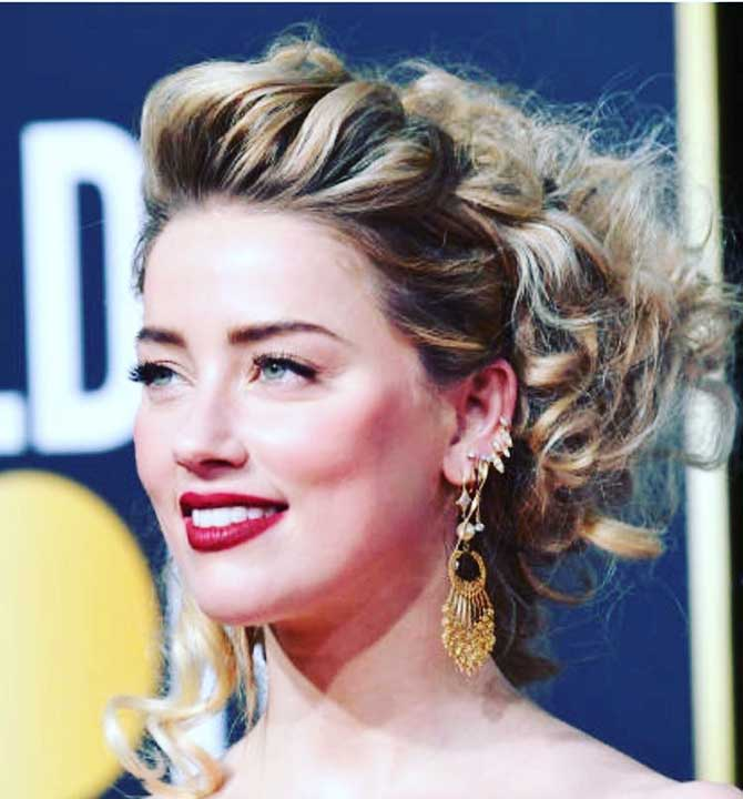 Amber Heard at the Golden Globes via hanut