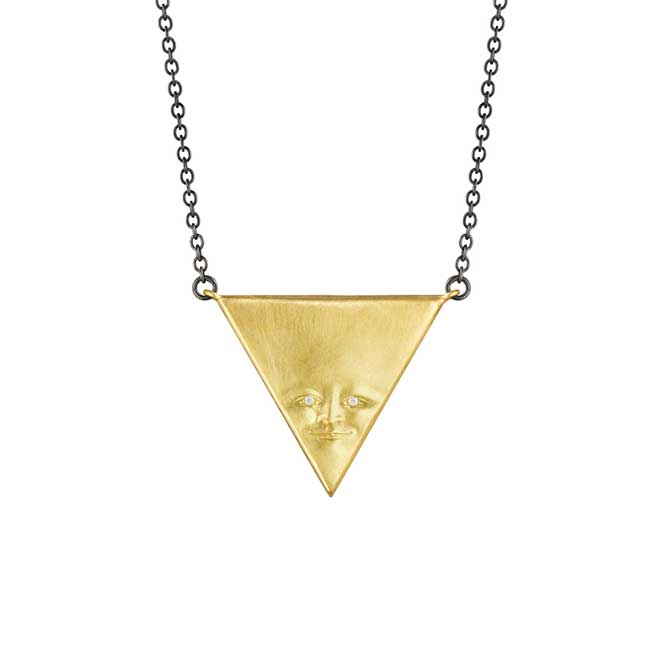 Anthony Lent Triangleface pendant