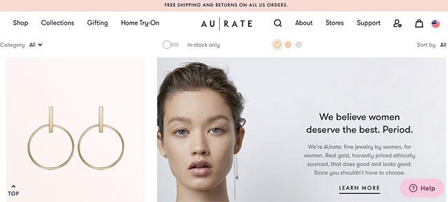 AUrate website