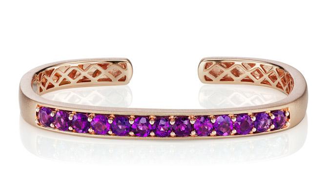 Jane Taylor Cirque amethyst cuff bracelet