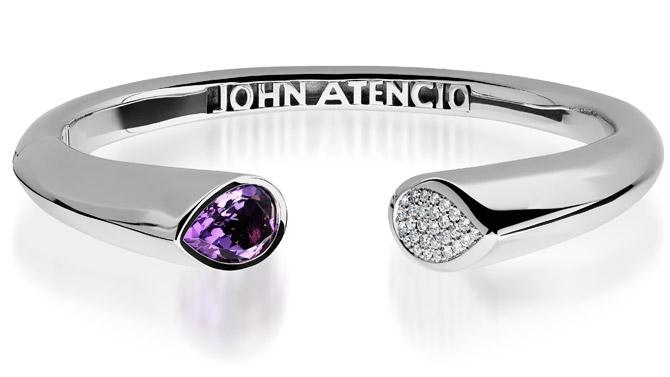 John Atencio Gemini amethyst bracelet