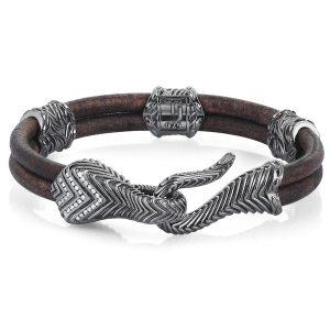 Thuja Jewels leather Serpi bracelet