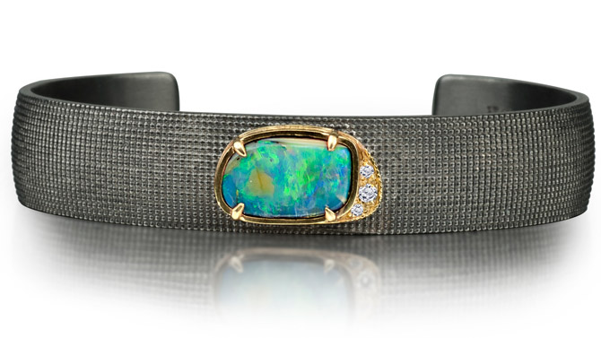 925Suneera opal cuff bracelet