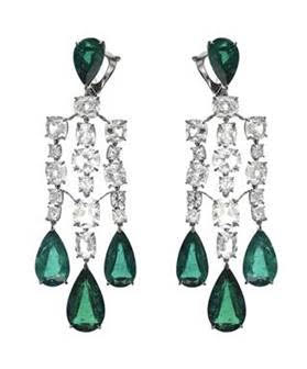 Chopard emerald diamond earrings