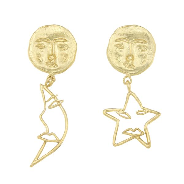 Cleopatras Bling astrology earrings