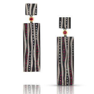 Alishan ruby Stripe earrings