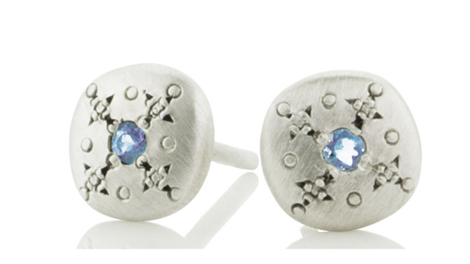 Adel Chefridi Silver Light stud earrings