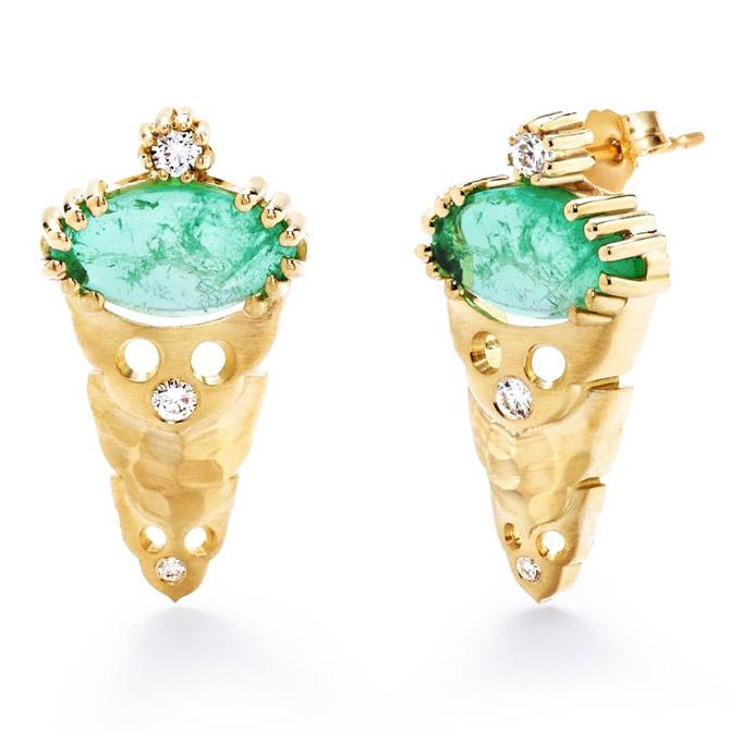 Dana Bronfman x Muzo emerald earrings