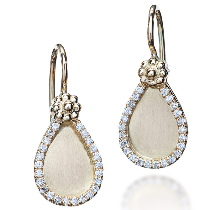 Christina Malle teardrop earrings