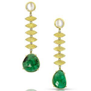 Alishan Dancing Emeralds earrings
