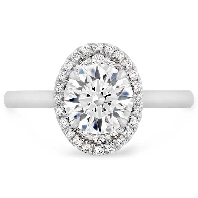Hearts On Fire oval engagement ring
