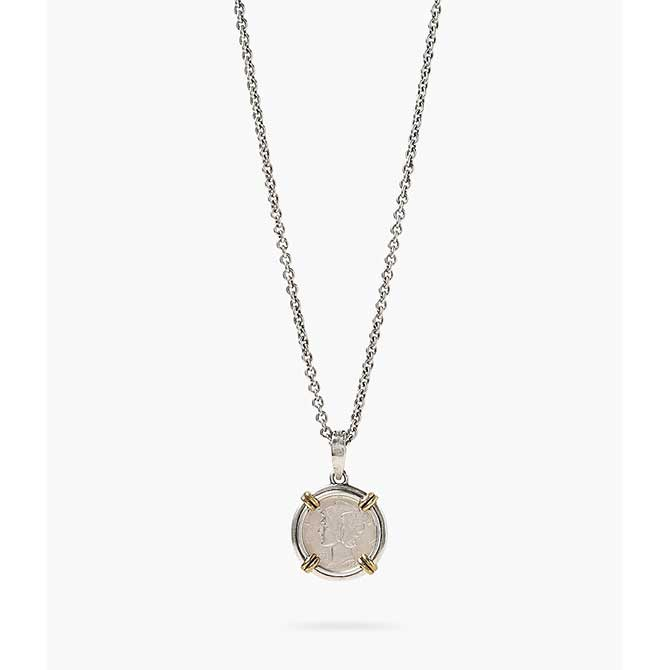 John Varvatos coin necklace