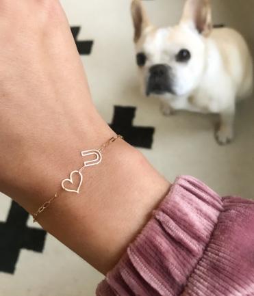 K Kane chain letter bracelet
