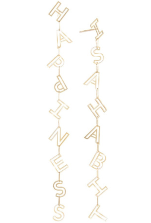 K Kane letter drop earrings