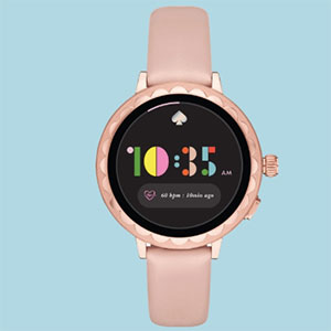 Kate Spade Scallop smartwatch pink