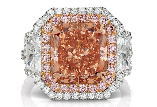 LJ West touch of blush ring