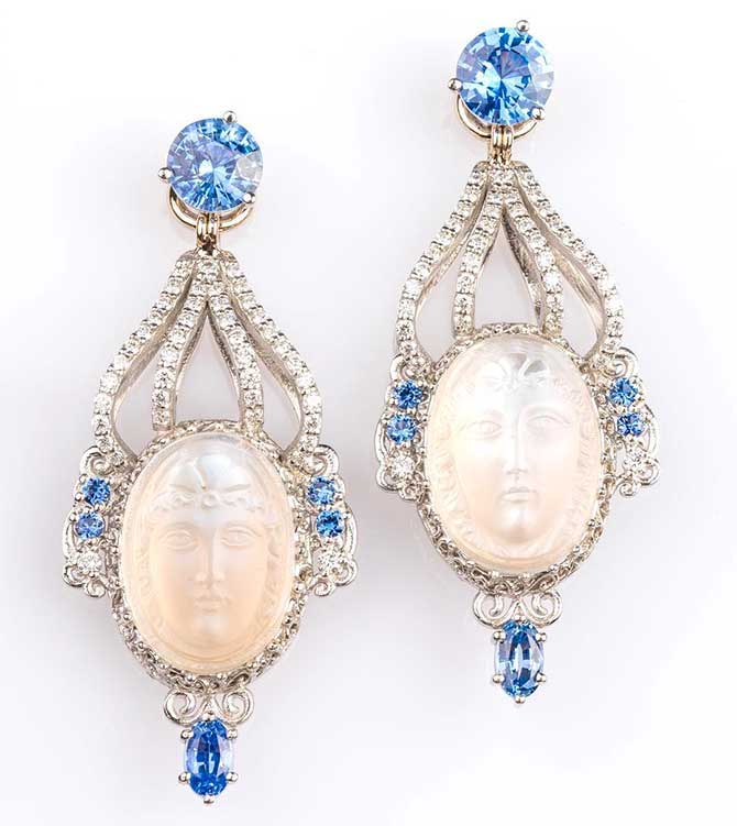 Llyn Strong moonstone earrings