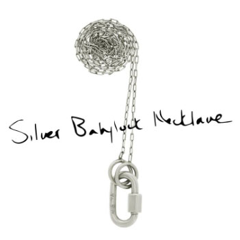 Marla Aaron silver babylock and chain necklace