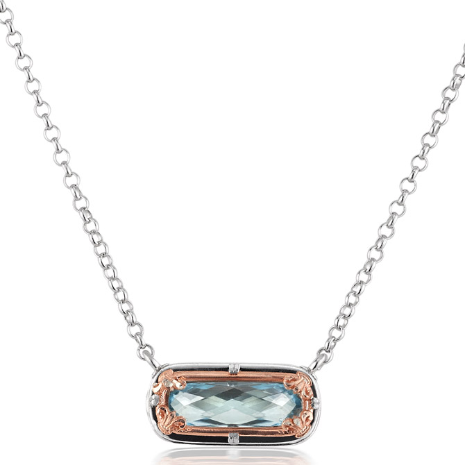 Anatoli blue topaz necklace