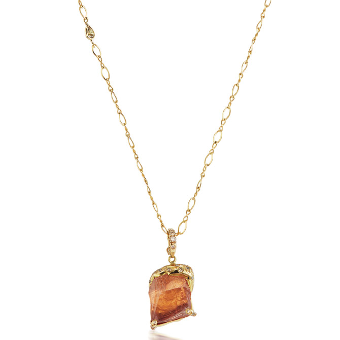 Debra Navarro Esther orange tourmaline pendant