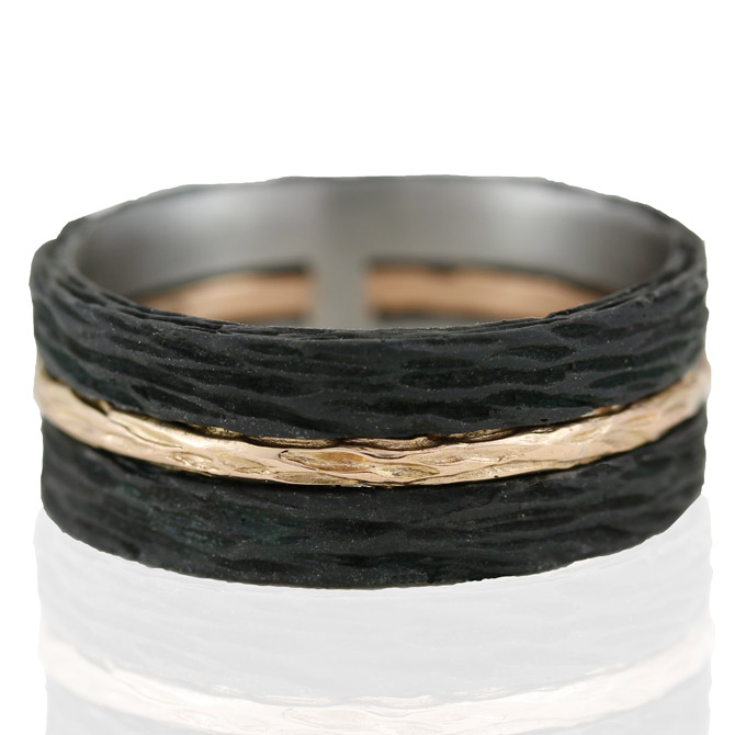 Sarah Graham Pebble triple stack ring