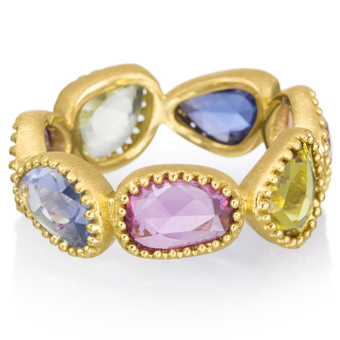 Lauren K multicolor sapphire eternity band