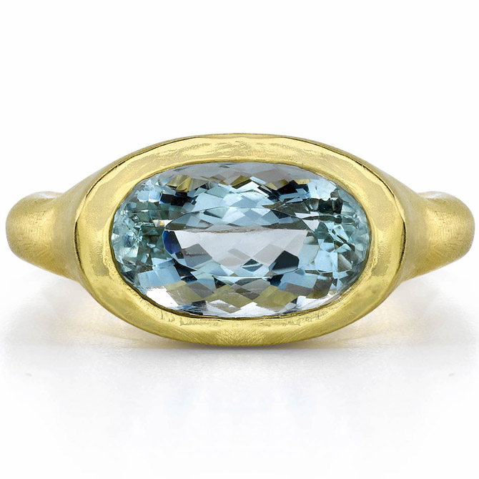 Dorian and Rose aquamarine ring