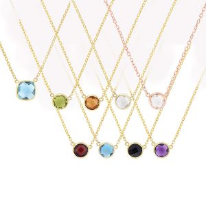 Royal Chain birthstone pendants