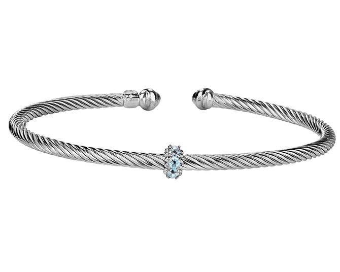 Royal Chain silver and blue topaz bracelet