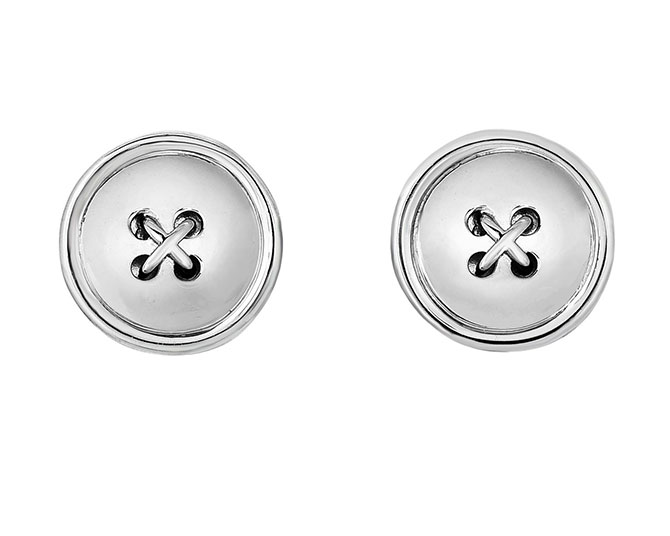 Royal Chain silver button cufflinks