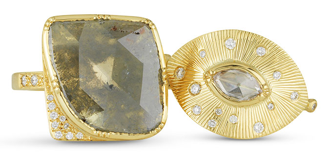 brooke gregson diamond square talisman starlight rings