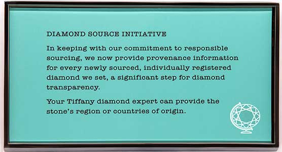 Diamond Source Initiative sign