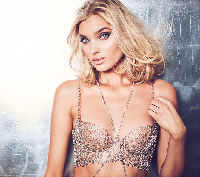 elsa hosk in victorias secret bra