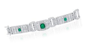 Emerald Art Deco bracelet