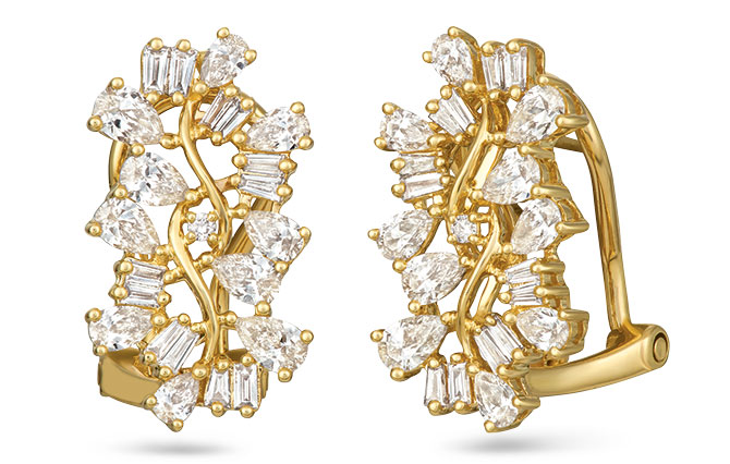 le vian baguette frenzy earrings