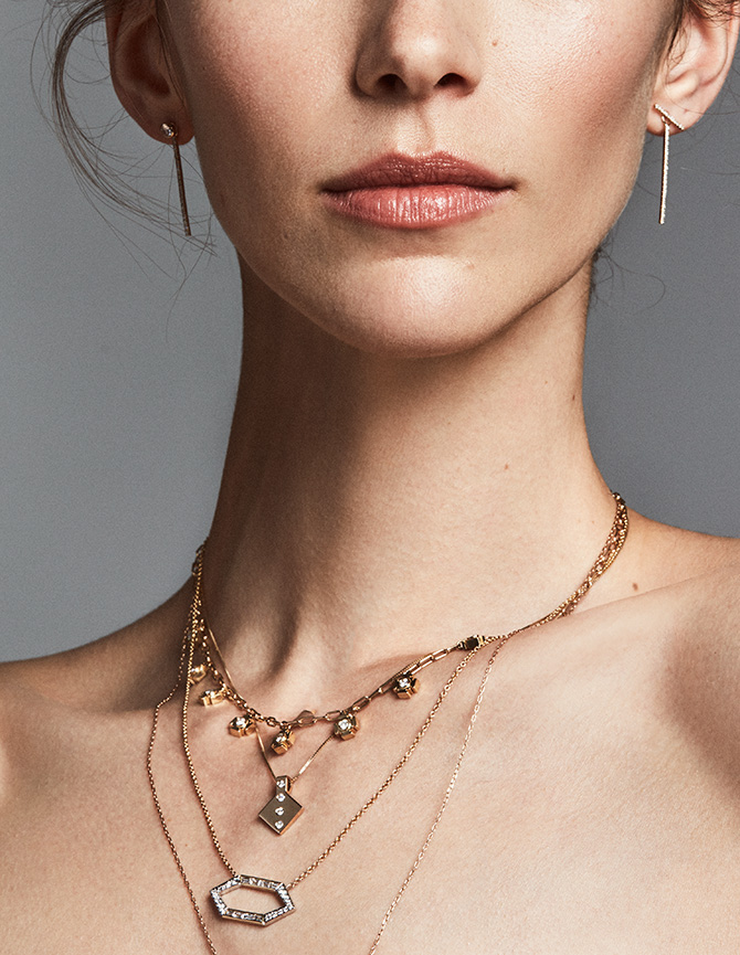 model with layered diamond chains
