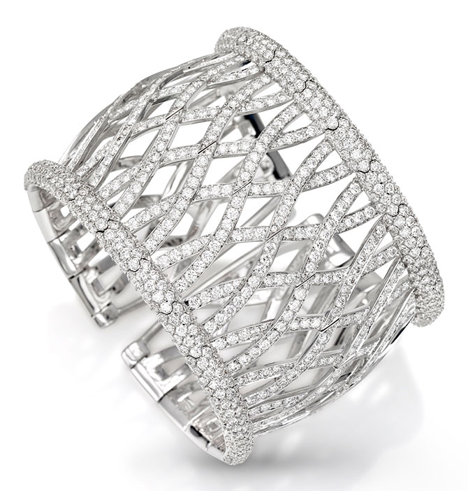 picchiotti wide diamond ribbon cuff