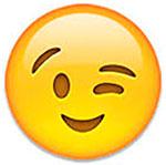 wink face emoji