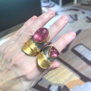 Atelier Zobel pink tourmaline rings
