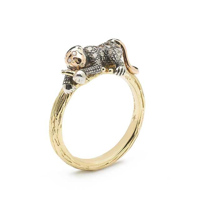 Bibi van der Velden Monkey ring