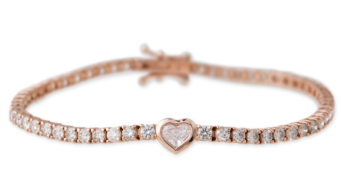 Jacquie Aiche diamond heart tennis bracelet