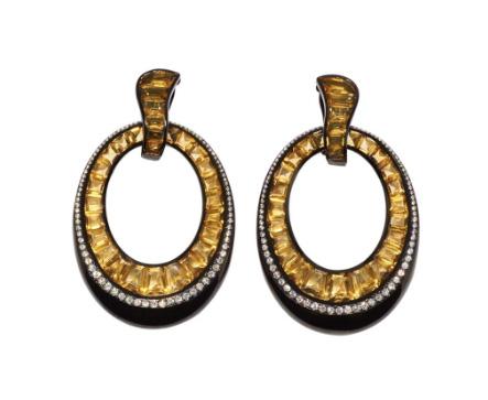 Daniella Kronfle Midnight Sun earrings