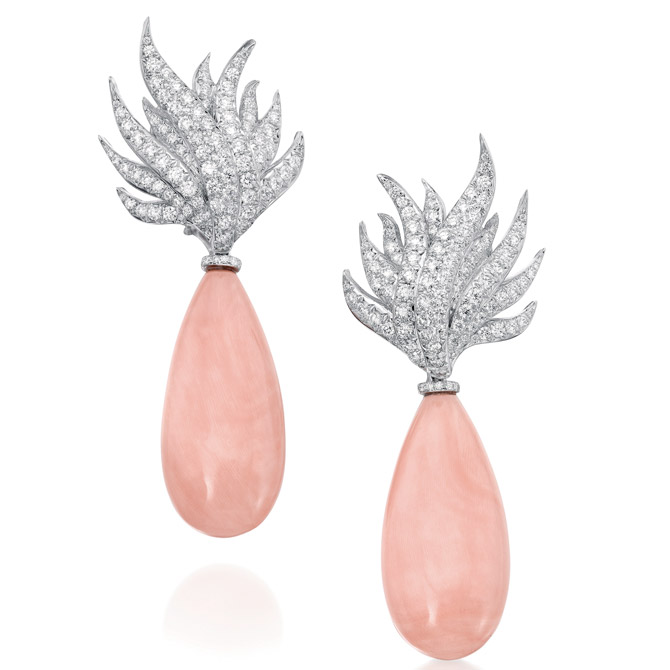 Assael angel skin coral Flame earrings