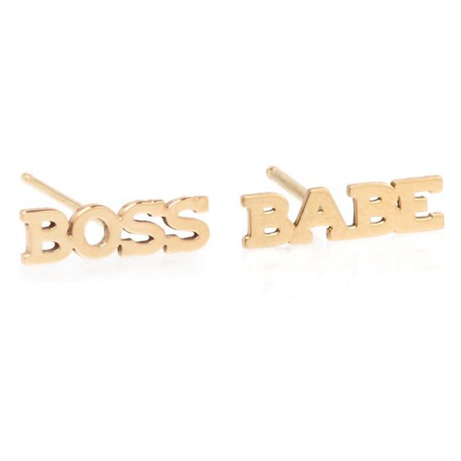 Zoe Chicco Itty Bitty Boss Babe earrings