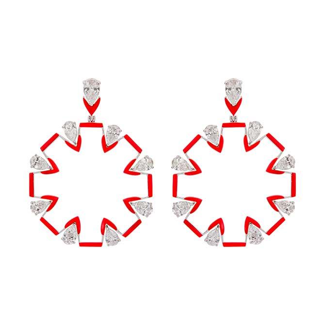Etho Maria circle earrings