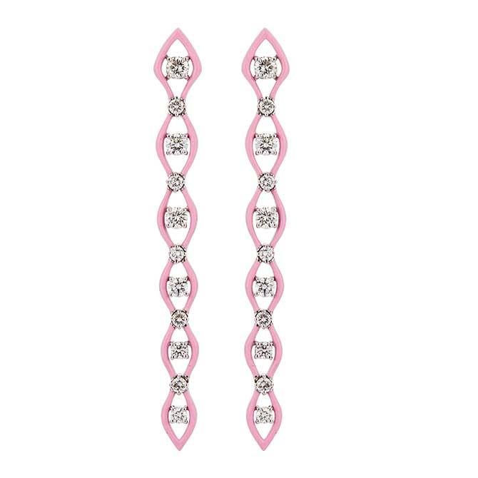 Etho Maria pink ceramic earrings