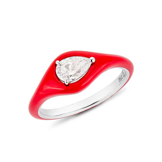 Etho Maria red pear shape ring